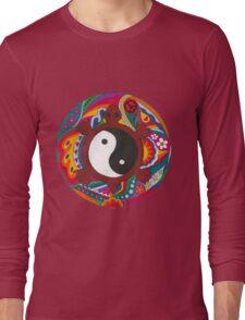 Psychedelic Turtle Yin Yang Long Sleeve T-Shirt