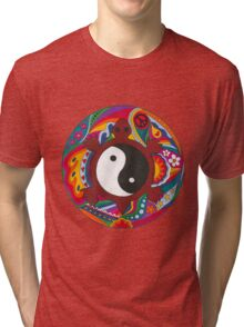 Psychedelic Turtle Yin Yang Tri-blend T-Shirt