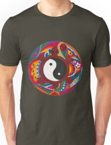 Psychedelic Turtle Yin Yang Unisex T-Shirt