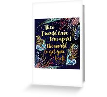 ACOMAF - Torn Apart The World Greeting Card