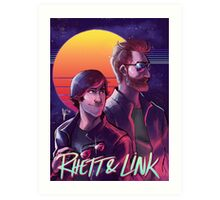 Rhett and Link - Synths and Waves Art Print