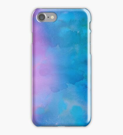 Purple and Blue Watercolor iPhone Case/Skin