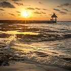 Sunrise Pier - Riviera Maya by Ken Fleming