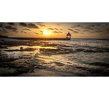 Sunrise Pier - Riviera Maya Photographic Print
