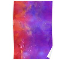 Red and Purple Watercolor Poster
