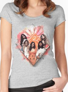 Fifth Harmony 7/27 Orange Women's Fitted Scoop T-Shirt
