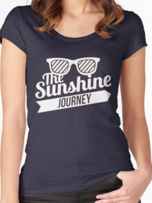 The Sunshine Journey (white) Women's Fitted Scoop T-Shirt