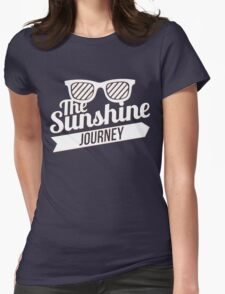 The Sunshine Journey (white) Womens Fitted T-Shirt