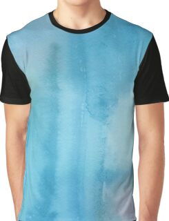 Light Blue Watercolor Graphic T-Shirt