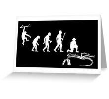 Funny Palaeontology Evolve Greeting Card