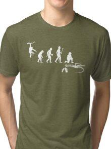 Funny Palaeontology Evolve Tri-blend T-Shirt