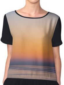 Etherial Glow over Water Chiffon Top