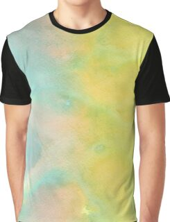 Green and Yellow Watercolor Graphic T-Shirt