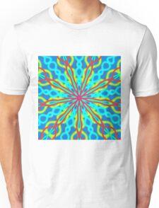 Mandala With Red Aqua And Yellow Unisex T-Shirt