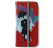 """Kiss Me In The Rain"" Watercolor Couple With Unbrella iPhone Wallet/Case/Skin"