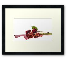 Roses and Blood Framed Print