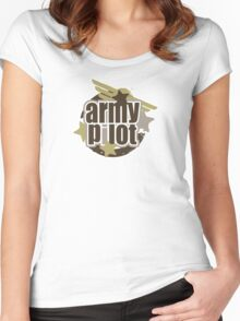 Army Pilot Women's Fitted Scoop T-Shirt