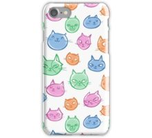 Pastel Cats iPhone Case/Skin