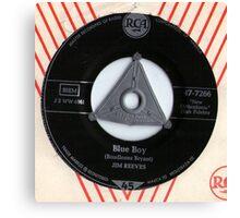 Jim Reeves Blue Boy 1958 Rockabilly 45 Canvas Print