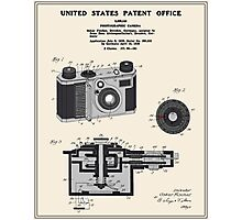 Camera Patent 1938 Photographic Print