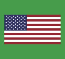 """The national flag of the United States of America -  Authentic 10:19 """"G-spec"""" (for """"government specification"""" ) Scale and colors One Piece - Short Sleeve"""