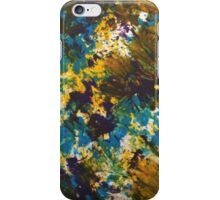 Yellow, purple, blue, green, white art  iPhone Case/Skin