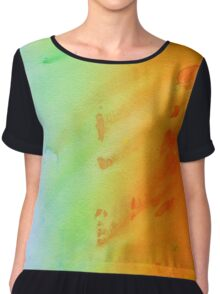 Rainbow Watercolor Chiffon Top
