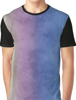 White, Purple and Blue Watercolor Graphic T-Shirt