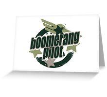 Bommerang Pilot Greeting Card
