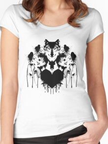 Dan Smith Inkblot Women's Fitted Scoop T-Shirt