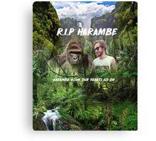 RIP HARAMBE Canvas Print
