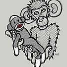 Mokey Holding a Sock Monkey by Brett Gilbert