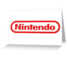 Nintendo NES logo Classic Video Games Greeting Card
