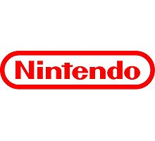 Nintendo NES logo Classic Video Games Photographic Print