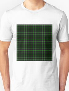 Matrix Optical Illusion Grid in Black and Neon Green V2 Unisex T-Shirt