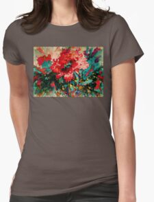 Oriental Poppy Womens Fitted T-Shirt