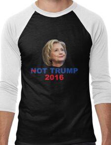Not Trump 2016 Men's Baseball ¾ T-Shirt
