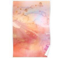 Peach Watercolor Poster