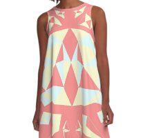 Sky Diamond - Strawberry Cream A-Line Dress