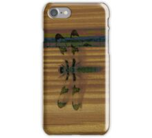 Dragonfly on Stripes iPhone Case/Skin