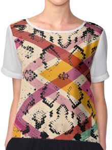 Colourful Snake Skin Texture Chiffon Top