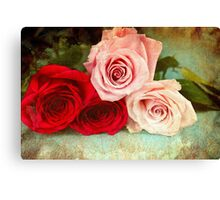 A painting of a bunch of Roses Canvas Print