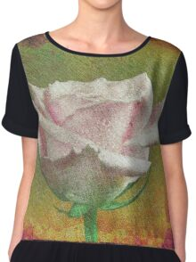 A painting of pink Rose . Chiffon Top