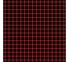 Martix Optical Illusion Grid in Black and Red Photographic Print