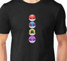 All 4 Pokemon Balls - Color Unisex T-Shirt
