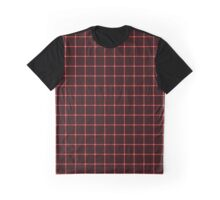 Martix Optical Illusion Grid in Black and Red Graphic T-Shirt
