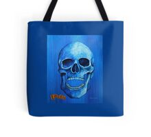 Blue Skull - Laugh Tote Bag