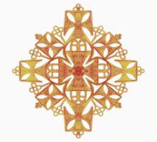 Ethiopian Cross 4. Gold Kids Tee
