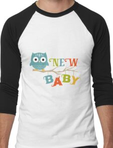 NEW BABY Cute Owl On An Tree Branch Colorful Design T-Shirt