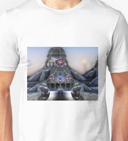 Binary Sunset at the Hesperisidrius Observatory on Plasticatorius VI Alpha T-Shirt